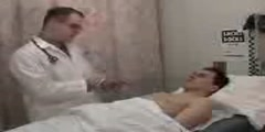 Chest examination of a patient