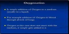 Oxygenation and Oxidation
