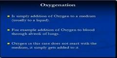 Oxygenation and Oxidation