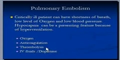 Treatment of Pulmonary Embolism