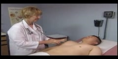 Abdominal examination of a patient