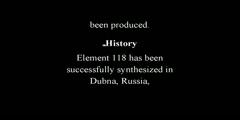 Ununoctium A Chemical Element