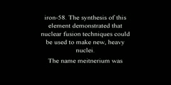 Meitnerium a Chemical Element