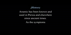 All About Arsenic