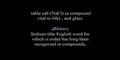 Sodiumn a Chemical Element