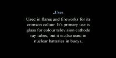 Strontium a Chemical Element