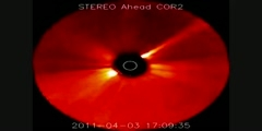 Coronal mass ejection (CME) from the sun