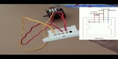 How to reverse ac motor using 2 gang touch wall mount switch