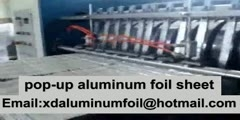how its made -pop-up aluminum foil sheet