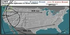 Geophysics earthquake determination epicenter