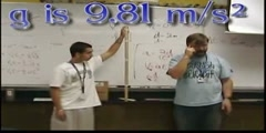 Acceleration of an object due to gravity