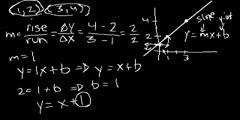 Algebra: Equation of a line