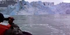 An example of an iceberg tsunami