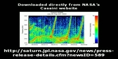 Saturn radio signal of NASA