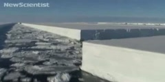 Thin Antarctic ice shelf