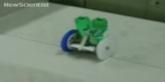 Robot making way through obstacles