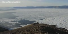 Glacier breaking up in Greenland
