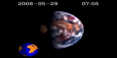 New spacecraft movie shows Moon transiting Earth