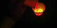Experiment on liquid light color mixing