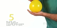 How to make a water balloon fire resistant