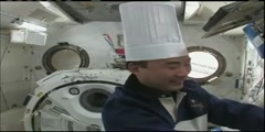Cook at Space Station