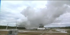 J-2X engine testing at Stennis