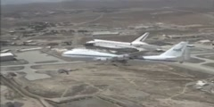 Arrival of Space Shuttle at NASA