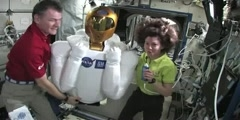 ISS Crew Joined by Robonaut 2