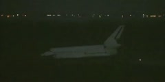 Landing at Kennedy space center by the Atlantis