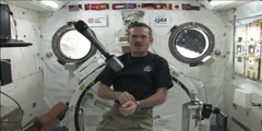 Hadfield school students chats with Chris Hadfield