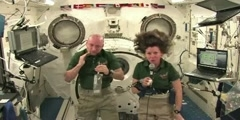 International space station astronauts -  talk with Oregon students