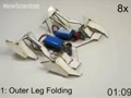 A moving robot made of paper
