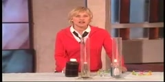 Science experiment in Ellen DeGeneres Show