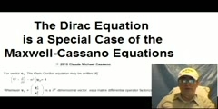 The Dirac Equation is a Special Case of the Maxwell-Cassano