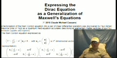 Expressing the Dirac Equation as a Generalization of Maxwell
