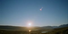 A day in the arctic summer when sun never sets