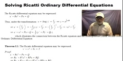 Solving Ricatti Ordinary Differential Equations1
