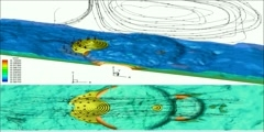 Natural CO2 reservoir diffusion in an Idealized Valley