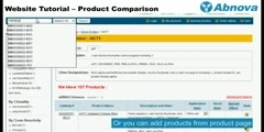 Website Tutorial – Product Comparison