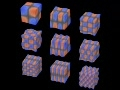 3D standing waves in a cube