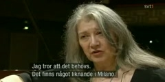 Martha Argerich, Interview in Stockholm for the Nobel Prize