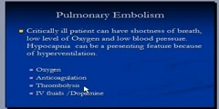 Pulmonary Embolism,  treatment