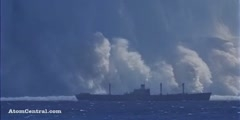 Atomic Bomb Explosion Under the Sea