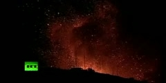 What does the Pacaya volcano look like during eruption?