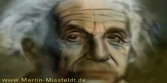 Portrait of Albert Einstein - a demonstration of speed paint