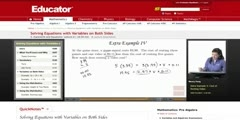 Solving The Equations with Variables