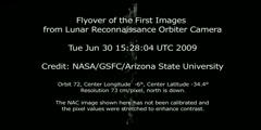 HD Lunar Flyover of the First Images from the LRO Camera