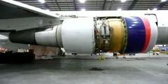 Thrust reverser test.