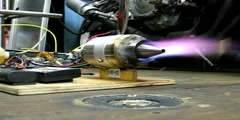 An Afterburner application in a model jet engine