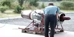A video of jet engine